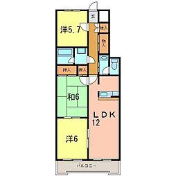 サンシャイン青木[3階]の間取り