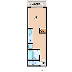 ソレイユ武庫之荘[403号室]の間取り