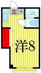 魚地マンション[307号室]の間取り