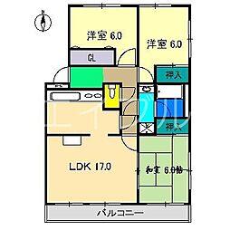 北村マンションI[3階]の間取り