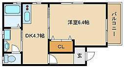 兵庫県尼崎市南塚口町8の賃貸アパートの間取り