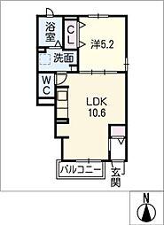 エスポワール II[1階]の間取り