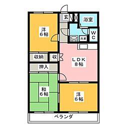 ストークハウスU[3階]の間取り