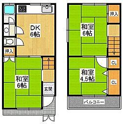 [一戸建] 兵庫県西宮市上甲子園4丁目 の賃貸【兵庫県 / 西宮市】の間取り