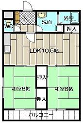 畑田ハイツ[105号室]の間取り