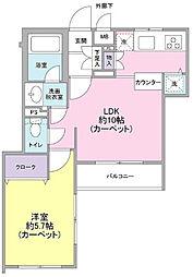 東京都大田区中央1丁目の賃貸マンションの間取り