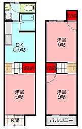 八雲西町2-29-11(島田貸家) 1階3DKの間取り