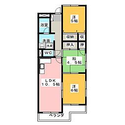 エルグランデ花塚[4階]の間取り