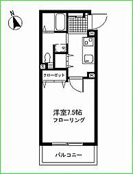 スールセレッソ妙蓮寺[309号室号室]の間取り