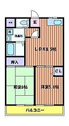 グリーンファミール[2階]の間取り