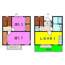 [テラスハウス] 愛知県大府市中央町1丁目 の賃貸【/】の間取り