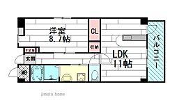 セレノアロッジオ江坂西[2階]の間取り
