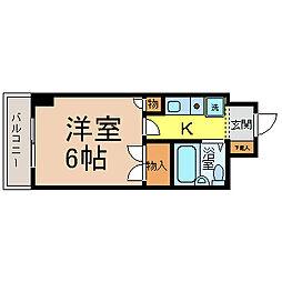 岩井橋ロイヤルハイツ[2階]の間取り
