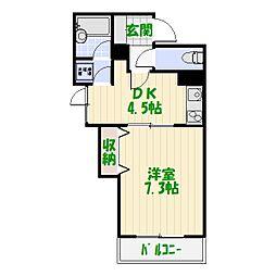 レグステージ[3階]の間取り