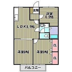 大阪府堺市中区深阪の賃貸アパートの間取り