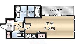 クレハ池田 3階ワンルームの間取り