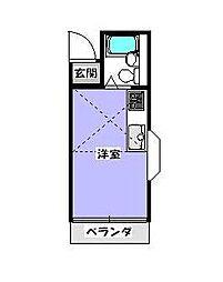 埼玉県川口市大字小谷場の賃貸アパートの間取り