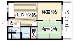 愛知県名古屋市守山区小幡南3丁目の賃貸マンションの間取り