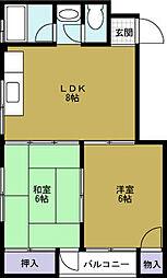 メゾン夕凪[2階]の間取り