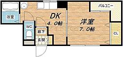 コンチネンタル真田山東[3階]の間取り
