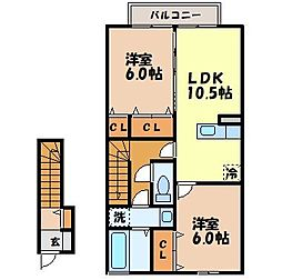 アステージ松並[2階]の間取り