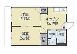飯塚ハイツ[103号室]の間取り