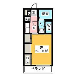 リブリ・湘南大船 1階1Kの間取り