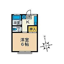 チェリーハイツ[2階]の間取り