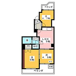 シティ岡崎駅[2階]の間取り