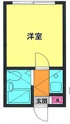 神奈川県横浜市港南区上永谷2丁目の賃貸アパートの間取り
