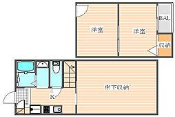シャンゼ吉塚[1階]の間取り