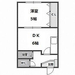 青池マンション[305号室]の間取り