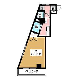 五輪マンション[4階]の間取り