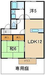兵庫県高砂市中筋5丁目の賃貸アパートの間取り