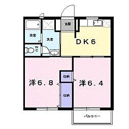 ヴァンベール千丈 Ⅱ[1階]の間取り