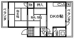マルキヨマンション[106号室]の間取り