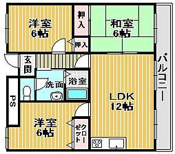 マスターズエル綾園20[9階]の間取り