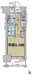 プレサンス大阪福島レシェンテ 7階1Kの間取り