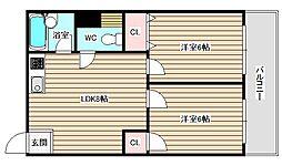 RIZE ONE福島[1階]の間取り