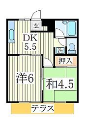 オークハウス[1階]の間取り