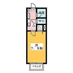 メープル若松[2階]の間取り