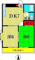 リブステージ本田3[3階]の間取り