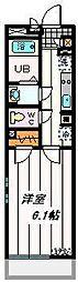JR京浜東北・根岸線 大宮駅 徒歩16分の賃貸マンション 1階1Kの間取り