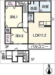 仮)D−room京和風穂波町III[2階]の間取り