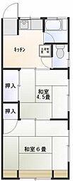 東京都世田谷区北沢2丁目の賃貸アパートの間取り