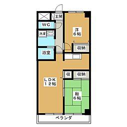 パレス西賀茂[3階]の間取り