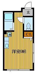 ファイン山井[4階]の間取り
