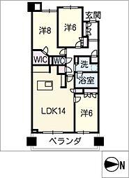 プレミスト東山ヒルズ409号室[4階]の間取り