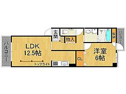 甲子園ロイヤルハイツ[3階]の間取り