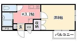 オキサ甲子園口[201号室]の間取り